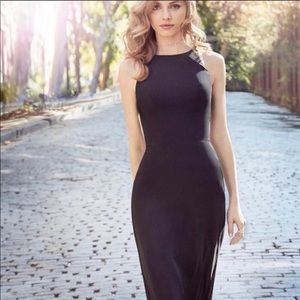 Hayley Paige Occasions Bridesmaids Dress Black
